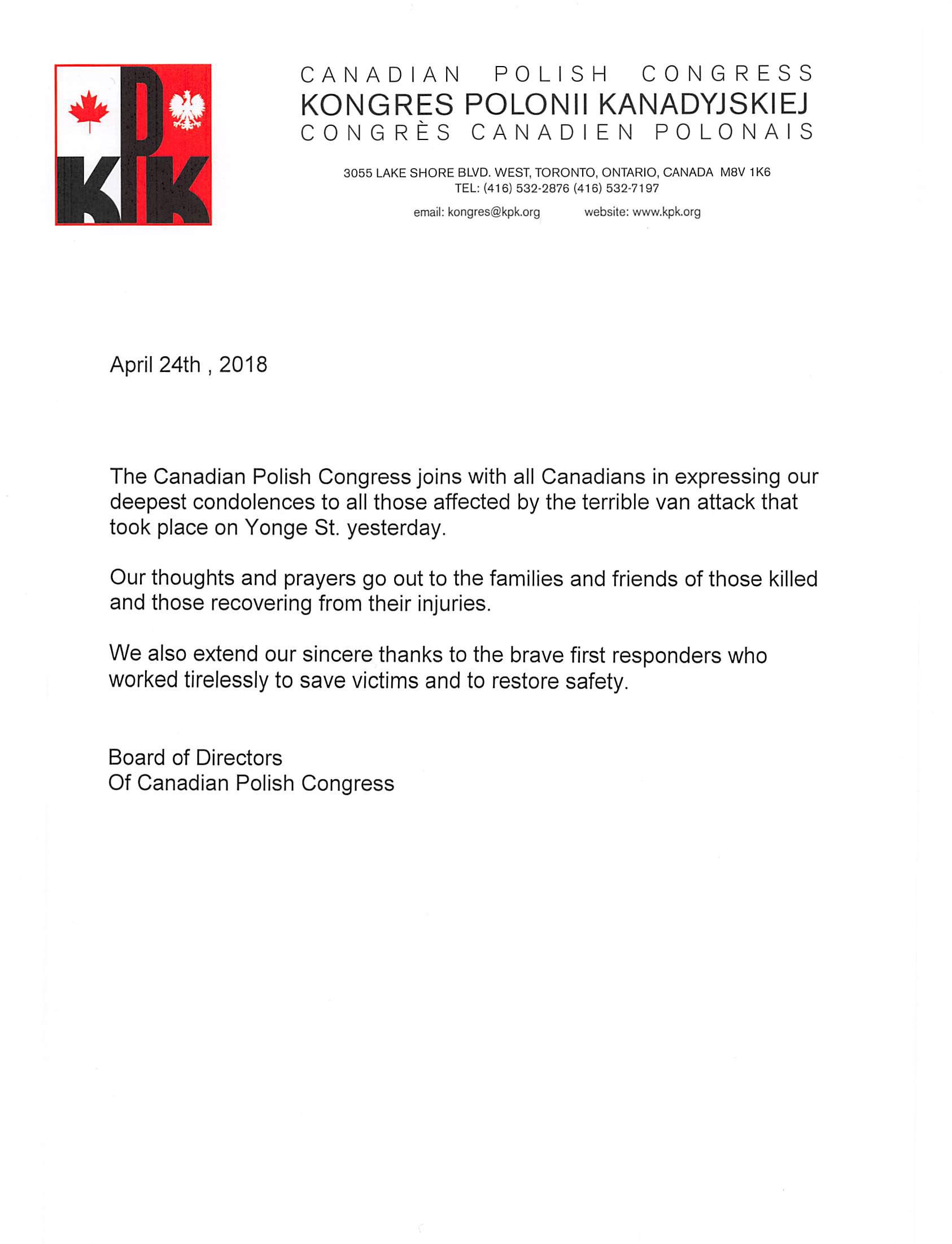 CPC Statement – toronto