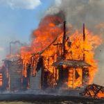 A former Polish Roman Catholic church in rural Saskatchewan was destroyed by fire Thursday.
