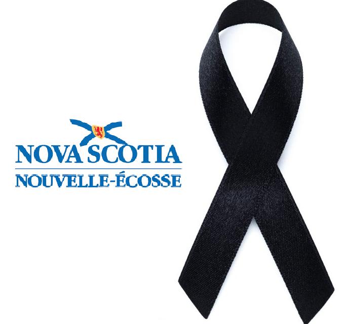 Condolences regarding violence in Nova Scotia